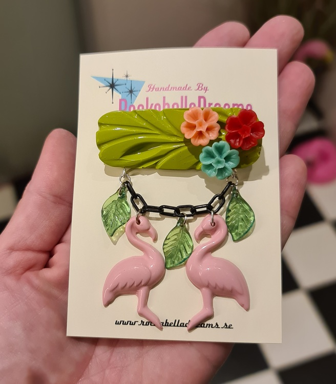 "Brosch ""Tiki Flamingo"""