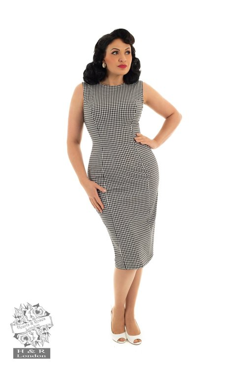 Gabrielle Gingham Wiggle Dress