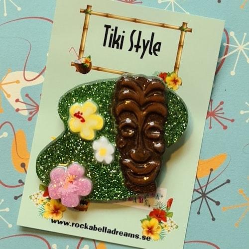 """Brosch """" Tiki Island"""""""