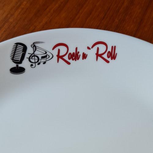 """Tallrik """"Rock n roll"""""""