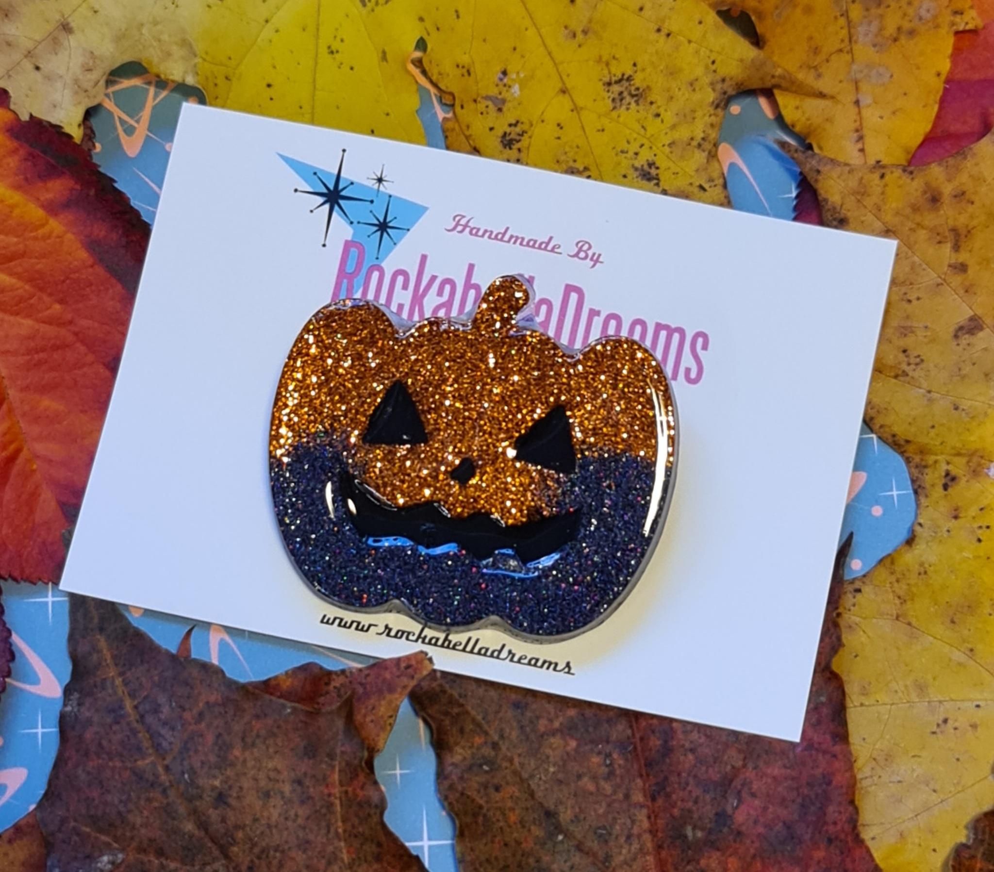 """Brosch """"Halloween pumpa"""""""