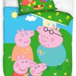 Greta gris bäddset med hela familjen | Junior/spjälsäng (KOMMER STRAX)