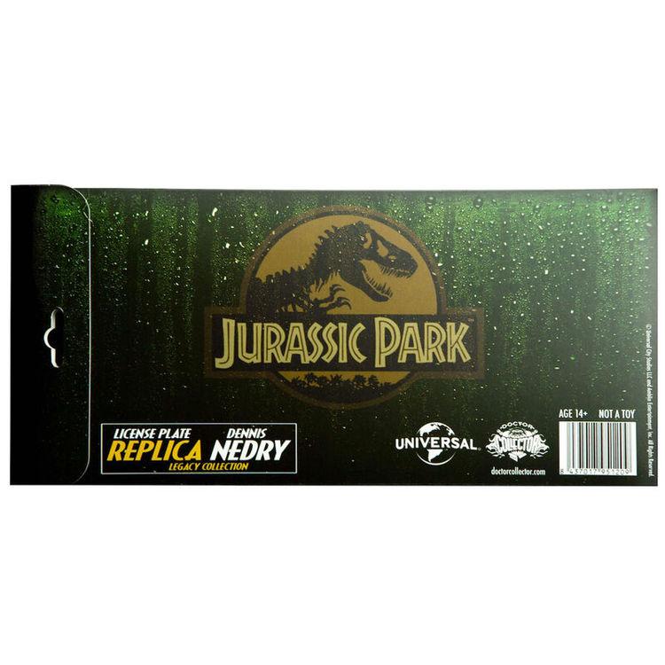 Jurassic Park Dennis Nedry nummerplåts replika - BESTÄLLNINGSVARA