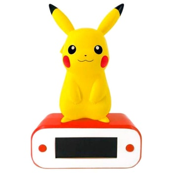 Pokemon Pikachu lampa alarm klocka