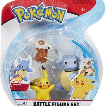 Cubone, Pikachu, Wartortle stridsfigurer - BESTÄLLNINGSVARA