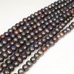 Blå-gröna pärlor 7-8 mm