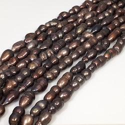 Bruna dubbla pärlor 8-10 mm
