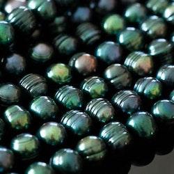 Blågröna pärlor 7-8 mm