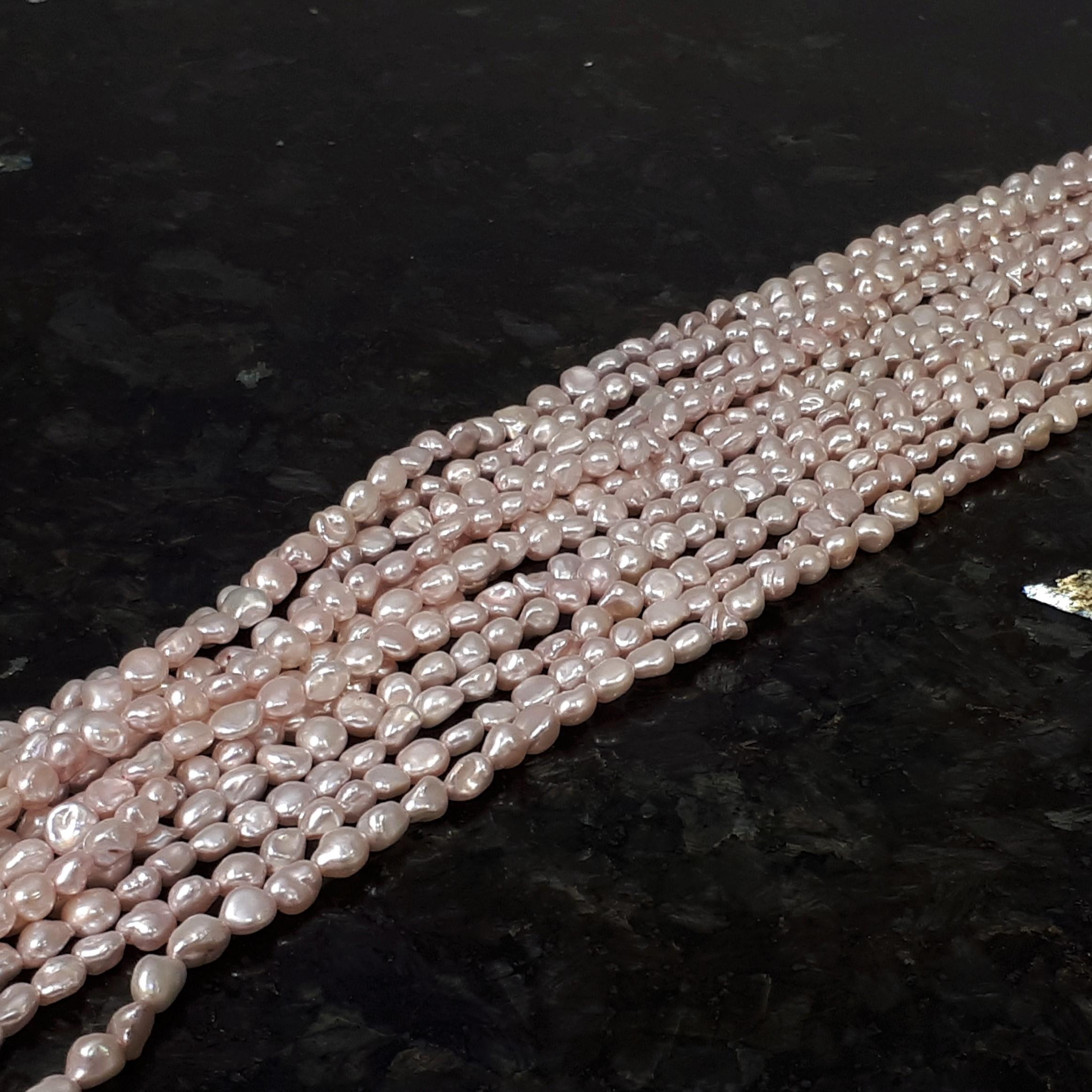 Rosa pärlor 5-8 mm