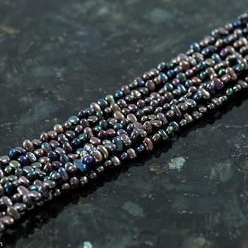 Blå små pärlor 2,5 - 3 mm