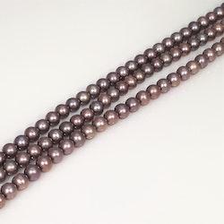 Violetta runda pärlor 4-5 mm