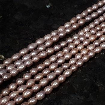 Rosa risgryns pärlor 5-5,5 mm