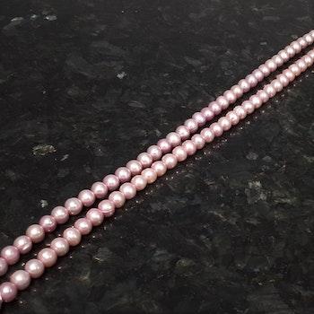 Rosa runda pärlor 7-7,5 mm