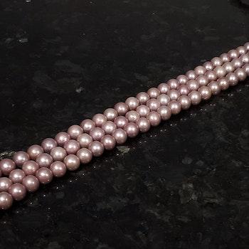 Rosa violetta pärlor 9-9,5 mm