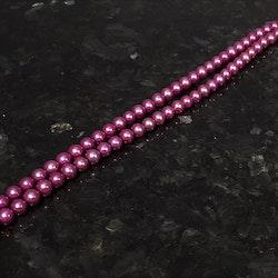 Cerisefärgade runda pärlor 7-7,5 mm