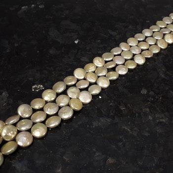 Gröna myntpärlor 12-13 mm