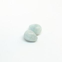 Akvamarin, stor droppe, 12x15,5 mm