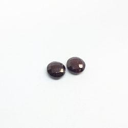 Granat platt fasettslipad 10 mm