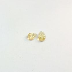 Beryll, briolettslipade gula 6x8 mm