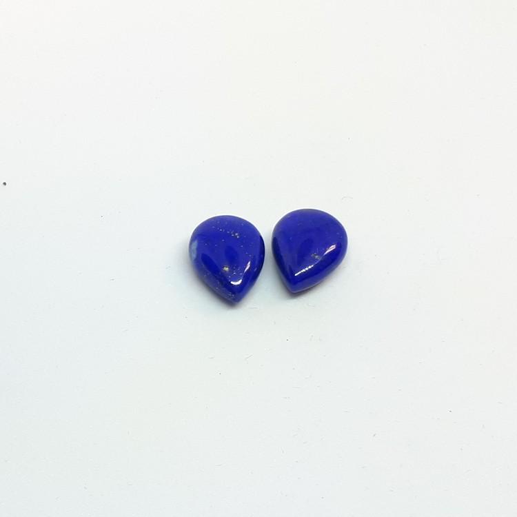 Lapis lazuli, platt droppe 8x10 mm