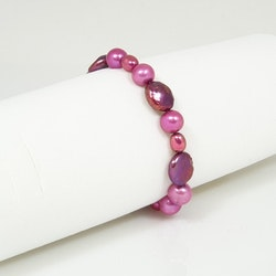 Armband med cerise pärlor