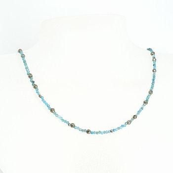 Halsband med apatit och pyrit