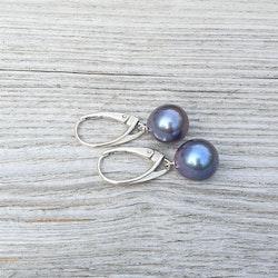 Stor blå pärlor med låsbar krok