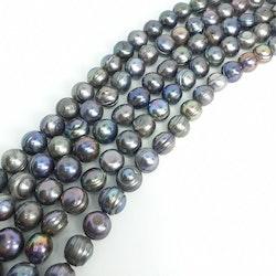 Blå-lila runda pärlor 10-11 mm