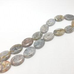 Blank jaspis oval platt 18x25 mm