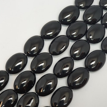 Blank svart onyx oval 13x18 mm
