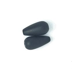Onyx, stor droppe, mattpolerad, 10x20 mm