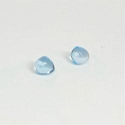 Topas slätpolerad droppe, 8 mm