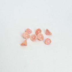 Korallrosor, små 6 mm, OBS priset / st!