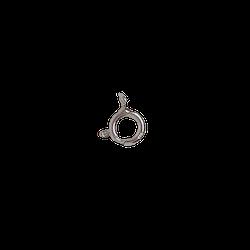 Silverlås springring 8 mm