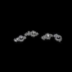 Silverlås rund boll 6mm