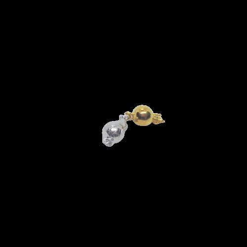 Silverlås boll 7 mm