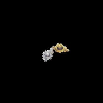 Silverlås rund boll 7 mm