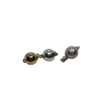 Silverlås rund boll 9 mm