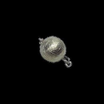 Stor silver kula lås 14 mm