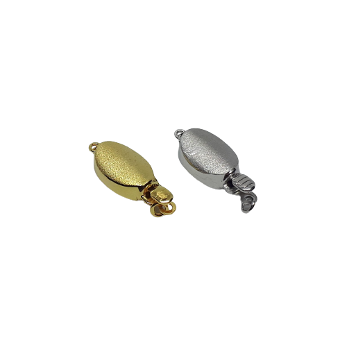 Silverlås oval