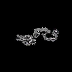 Silverlås dubbelring 20 mm