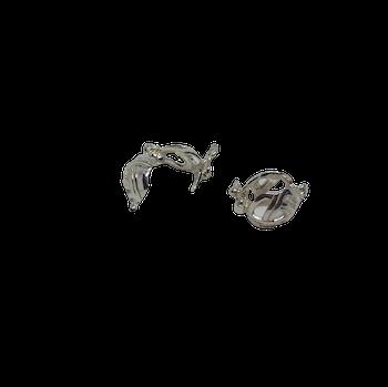 Litet korglås i silver 10 mm