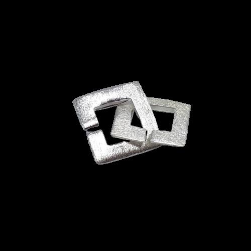 Silverlås fyrkantigt 15 mm