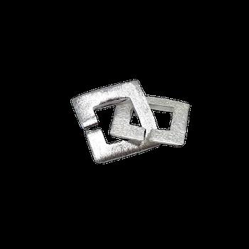 Fyrkantigt silverlås 15 mm