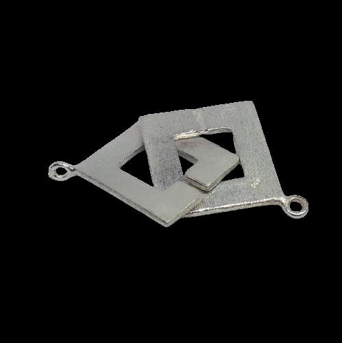 Silverlås fyrkantigt 30 mm