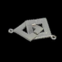 Stort fyrkantigt silverlås 30 mm