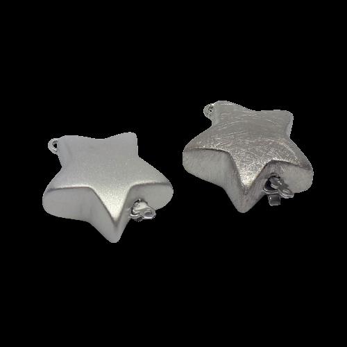 Silverlås stjärna 20 mm