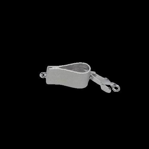 Silverlås vikt rektangel