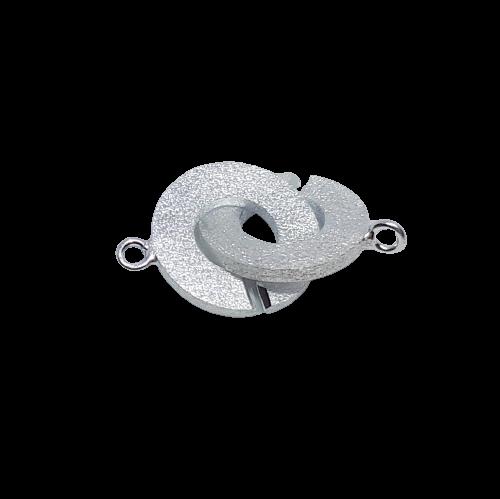 Silverlås dubbelring frostad 20 mm