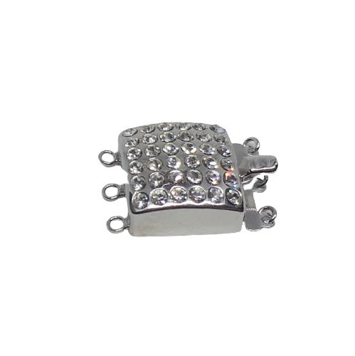 Silverlås fyrkant med bling